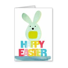 happy Easter colorful greeting card ❤ liked on Polyvore featuring home, home decor and stationery