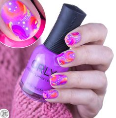 80's abstract nails: tutorial.   Orly L.A. PCH collection.   fall in ...naiLove!   Bloglovin'