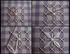 Kerri Made: Chicken Scratch Bookmarks Tutorial - Woven Oval pattern