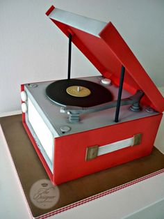 Dansette Record Player Birthday Cake