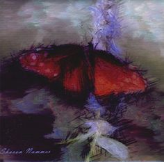 Butterfly Art Tile By Sharon Nummer by caninepainter on Etsy, $20.00