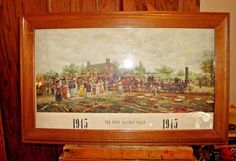 Antique Vintage Print The First Railway Train Edward Lamson Henry #Realism
