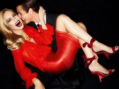 Mirte Maas for Tom Ford Spring 2012 Campaign by Tom Ford #red