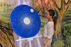 """Obra: """"En la Luna te veo"""" de Laura E. Cardozo Pacheco."""