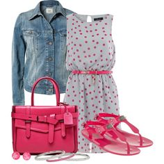 A fashion look from August 2013 featuring grey dresses, blue jackets and pink sandals. Browse and shop related looks. My Life Style, Mom Style, Dressy Dresses, Casual Summer Dresses, Spring Summer Fashion, Spring Outfits, Look Fashion, Womens Fashion, Character Outfits