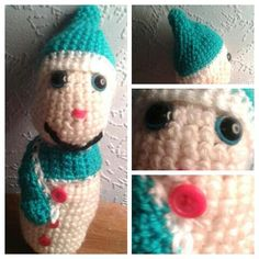 Happy Harry the Snowman  Crochet Snowman  by CraftyMillerJM  Handsome Happy Harry needs a home too. Take advantage of the offers on the Crafty Miller Etsy Shop