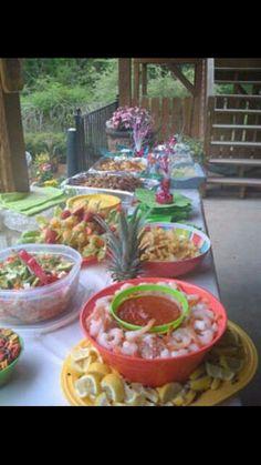 Hawaiian baby shower food
