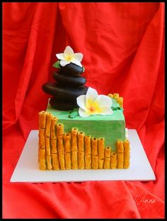 "Cake with bamboos - Bambuszos torta ""Nyugalom"" fantázia névvel"