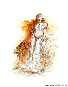 'Dreams. #6'.  (Artist: Luis Royo)  [Artist homepage: www.LuisRoyo.com]