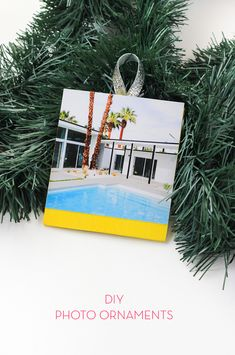 Learn how to make these DIY Photo Ornaments for your Christmas tree in only a half hour!