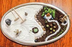 mini jardin joyeux, décoration zen originale