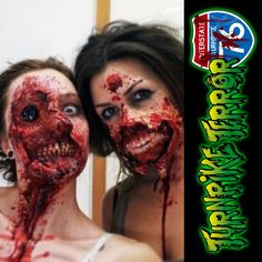 Sayyy Chees...oh holy crap! #Scary76 #zombie #makup #missingeye #nope #nothanks