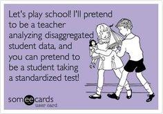 Let's play school.