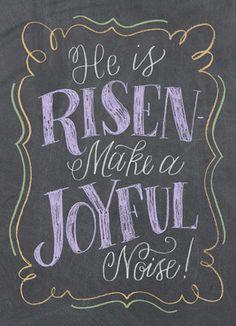 He is Risen! - Chalkboard Design 5x7 Folded Card