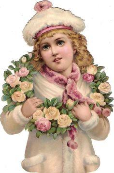 Glanzbilder - Victorian Die Cut - Victorian Scrap - Tube Victorienne - Glansbilleder - Plaatjes : Kinder im Winter