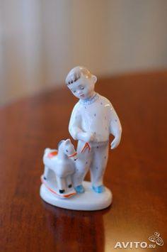 """Let's play"" LFZ rear porcelain figurine Soviet Era"