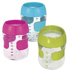 OXO Tot Training Cup: Ease the transition from sippy cups, with this hard-to-find true training cup! What's special: the removable lid is rimmed with cutouts, which limit beverage flow and minimize mess. Teaches toddlers to sip, not chug, and it's easy to hold, with soft, non-slip grips...