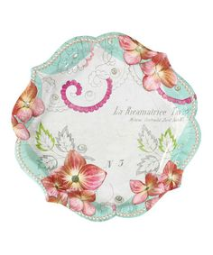 Another great find on #zulily! Pastries & Pearls Plate - Set of 24 #zulilyfinds