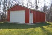 A 24x32x10 backyard pole building.