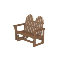 Eco-friendly Furnishings Recycled Earth-friendly Outdoor Patio Double Glider Adirondack Chair
