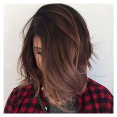 101+ Beautiful Hair Color Ideas for Brunettes ❤ liked on Polyvore featuring beauty products and haircare