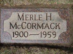 Merle  Hemingway McCormack's Tombstone