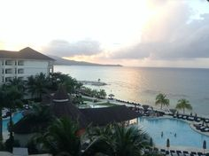 The view from the 5th floor at Secrets Wild Orchid Montego Bay Jamaica.