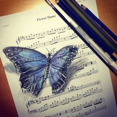 Butterfly and flowerdance