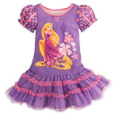 Kids dresses - Pin It :-) Follow Us :-))  azDresses.com  is your  Dresses Product Gallery.  CLICK IMAGE TWICE for Pricing and Info :) SEE A LARGER SELECTION of  kids dress at  http://azdresses.com/category/dress-categories/dresses-by-type/kids-dresses/  - baby girl, toddler dress , dresses, dress, kids dress  -  Disney Store Tangled Princess Rapunzel Nightgown/Nightshirt with Tutu Sleepwear/Costume Dress for Girls Size Small 5/6 (2013) « AZdresses.co...