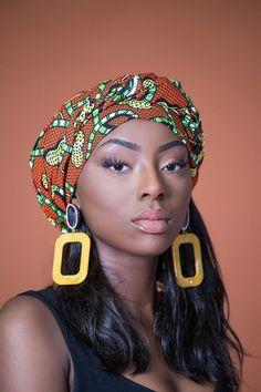 AFRICAN PRINT MOJI HEADWRAP