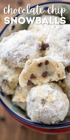Best Christmas Cookies, Christmas Snacks, Xmas Cookies, Christmas Cooking, Yummy Cookies, Snowball Cookies Recipe No Nuts, Snowballs Recipe, Fall Snacks, Christmas Christmas