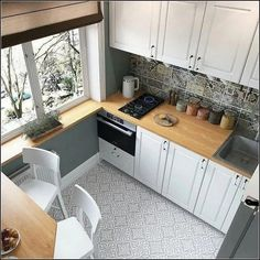 44 Best Small Kitchen Design Ideas for Your Tiny Space kitchen ideas ideas dark cabinets ideas dream ideas white ideas apartment kitchen ideas Kitchen Room Design, Kitchen Layout, Home Decor Kitchen, Interior Design Kitchen, Home Design, New Kitchen, Kitchen Designs, Kitchen Hacks, Interior Design Ideas For Small Spaces