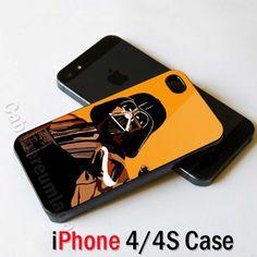Darth Vaider Pop Art Orange iPhone 4 4S Case