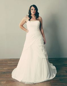 Lp9016 399 Asymmetric Pleats And Pick Ups Run Across The Skirt Of This Intriguing Dress Plus Size