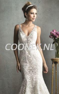 Kant zeemeermin jurk van Allure Bridals Couture