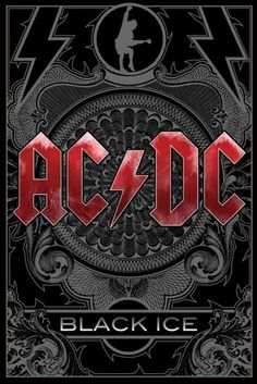 AC/DC - Black Ice - Official Poster. Official Merchandise. Size: 61cm x 91.5cm. FREE SHIPPING