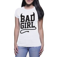 Bad Girl by NavFifteen on Etsy Funny Tees, T Shirts For Women, Lady, Boys, Long Sleeve, Sleeves, Fashion, Moda, Full Sleeves