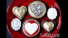 Valentine Heart & Cameo Decorated Sugar Cookies Tutorial Video