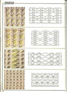Watch This Video Beauteous Finished Make Crochet Look Like Knitting (the Waistcoat Stitch) Ideas. Amazing Make Crochet Look Like Knitting (the Waistcoat Stitch) Ideas. Crochet Stitches Chart, Crochet Motifs, Crochet Borders, Crochet Diagram, Tunisian Crochet, Filet Crochet, Knitting Stitches, Crochet Lace, Knitting Patterns