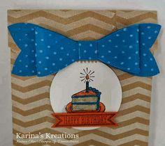 Karina's Kreations: Stampin'Up Gift Bow Bag! - Late Night Stamper Blog Hop