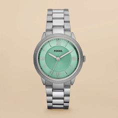 I've been looking for a stainless steel watch with a colored face & no rhinestones for so long. I really like this one.