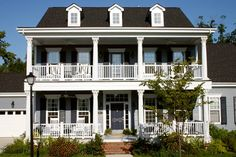 Two Story Porch Design, Pictures, Remodel, Decor and Ideas. I would love to add a 2 story deck to the front of our house!