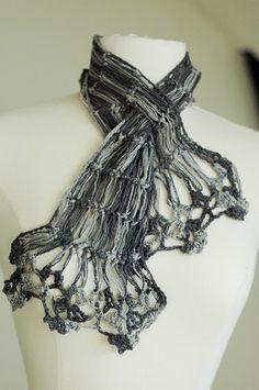hairpin lace neck scarf hansen