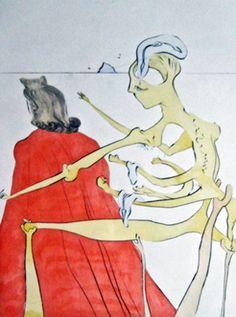 "Salvador Dali - Gala's Godly Back, 1974. Drypoint etching, 25.59 x 19.69"" (65 x 50 cm)"