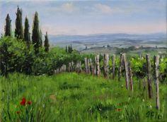 Tuscan Landscape Oil Painting di FrancescaPratellesi su Etsy