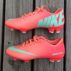 the latest 2eda6 007ee Atomic Pink Mint Nike Mercurial Soccer Cleats Shoe ONE -RARE Pair of Atomic  Pink