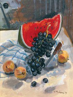 Φειδάκης Πάνος-Νεκρή φύση με φρούτα, 1996