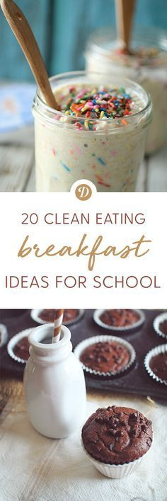 20 Clean Eating Back to School Breakfast Recipes.  Healthy Kids Recipes | Breakfast ideas