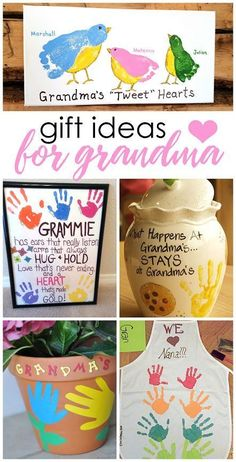 Great Crafts Kids Can Make For Mothers Day Or Grandparents Handmade Gifts Grandma