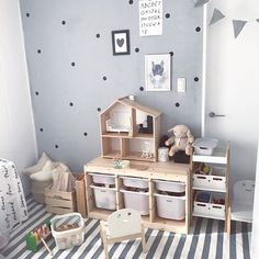 Baby Bedroom, Baby Room Decor, Kids Bedroom, Ikea Kids, Playroom Paint Colors, Montessori Toddler Rooms, Brothers Room, Toy Rooms, Kid Beds